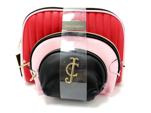 Juicy Couture 3-Piece Cosmetic Bag Set