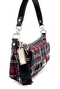 Coach Poppy Tartan Plaid Groovy Crossbody
