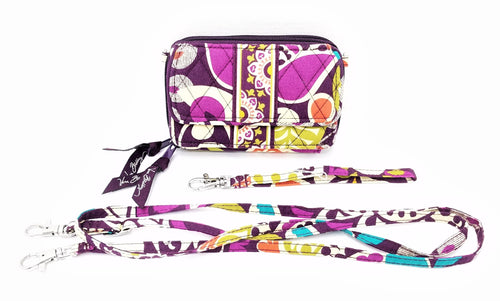 Vera Bradley Convertible Wallet, Crossbody, and Wristlet.