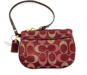 Coach Red & Gold Signature Wrislet