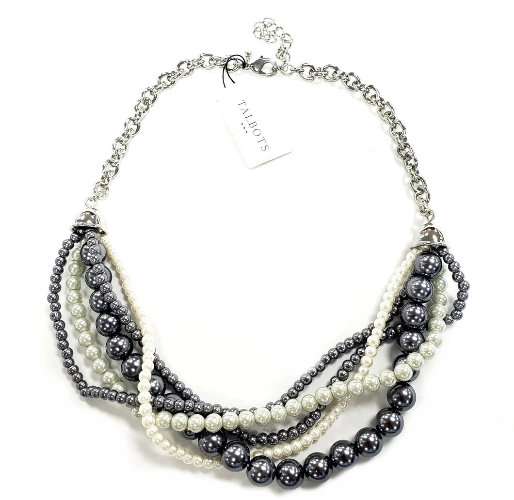 Talbots Multistrap Pearl Necklace