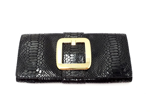 Michael Kors 'Sutton' Snake Embossed Leather Clutch
