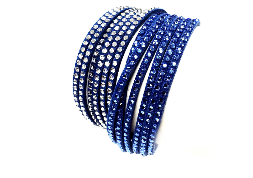 Swarovski Wrap Leather Bracelet