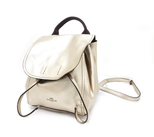 Coach Derby Metallic Mini Backpack