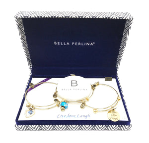 "Bella Perlina ""Live, Love, Laugh"" Bracelet Set"