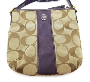 Coach Signature Stripe Duffle Crossbody Bag