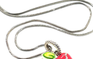 Brighton Necklace with Red Apple Charm