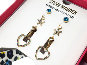 Steve Madden Earrings & Trinket Tray