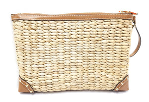 Michael Kors Malibu Extra Large Woven Zip Clutch
