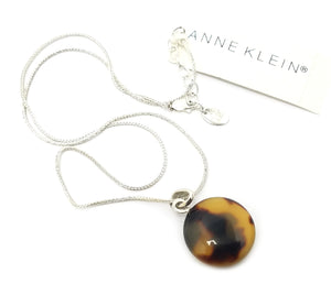 Anne Klein Sterling Silver Pendant Necklace