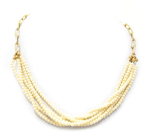 Ann Taylor Multi Strand Pearl Necklace