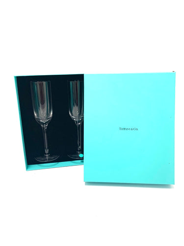 Tiffany & Co Wine Flute Glass Set