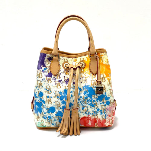 Dooney & Bourke Paint Splatter Drawstring Tote