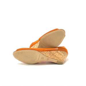 "Donald J Pliner ""Molly"" Low -Cork Wedges Size 6.5"