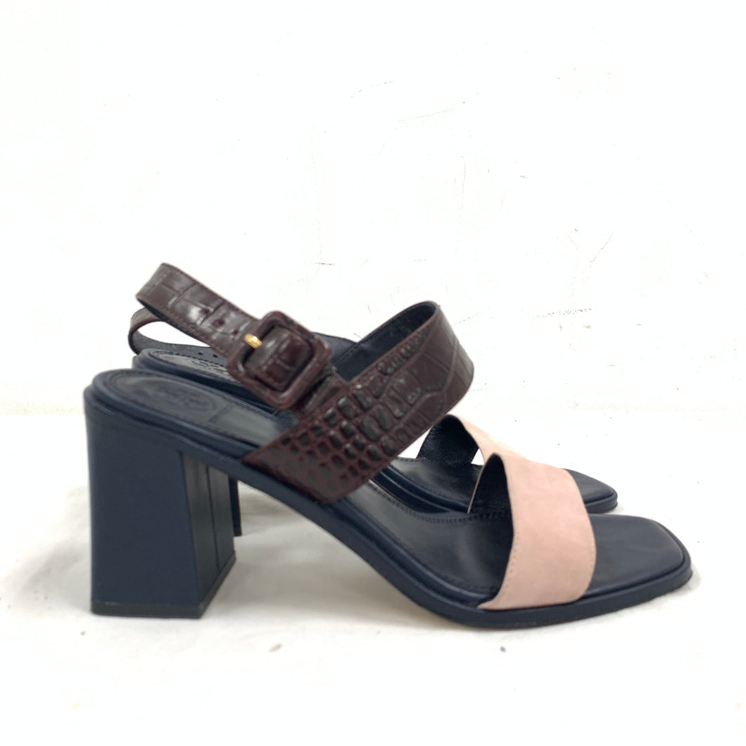 Tory Burch 'Delaney' 75MM Block Heeled Sandals Size 9M
