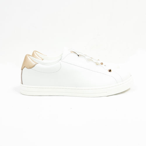 Fendi White 'Rockoko'Sneakers Size 38 EUR/ 7.5 US