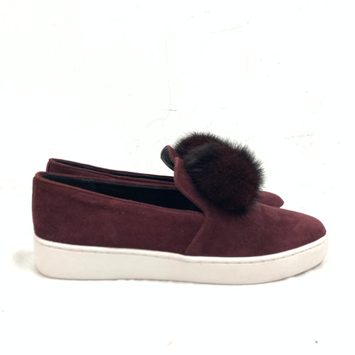 Michael Kors Collection 'Eddy' Pom-Pom Suede Slip On Sneaker Size 36 EUR / 6M US