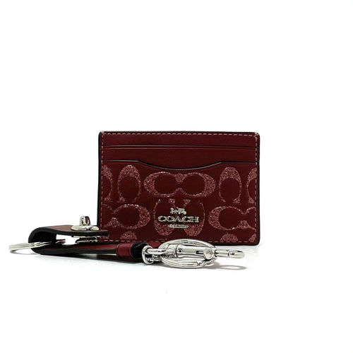 Coach Card Case and Valet Key Charm Gift Set