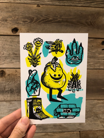 Screen Printed Postcard Set