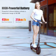Phaewo Electric Scooter , 8.5 Inches honeycombs  Tires Foldable Adult Scooter, Two Speed Stunt Scooter withrake, Max Speed 15.6 mph (25 kmph) and Endurance 25 km