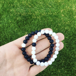Distance Bracelets - Classic Black and White