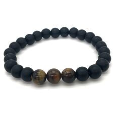 Couple Bracelets - 2Pcs Tiger Eye Stone