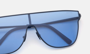 Retrosuperfuture Lenz Flat Top Blue Sunglasses