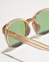Article One Tracksmith Charles gold active sunglasses nosepad closeup