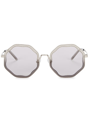 For Art's Sake Smoky Gray Gradient Sunglasses
