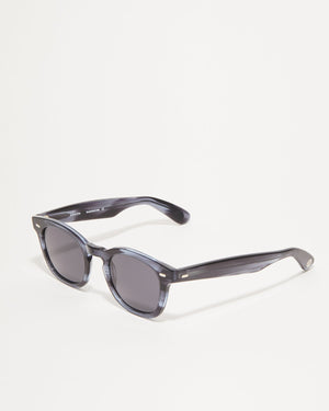Article One Cass gray acetate rectangular sunglasses 3/4 view
