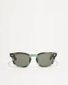 Article One Cass green acetate rectangular sunglasses front view