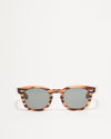Article One Cass brown acetate rectangular sunglasses front view