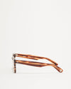 Article One Cass brown acetate rectangular sunglasses side view