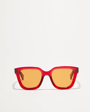 Article One Marion tinted red sunglasses front view