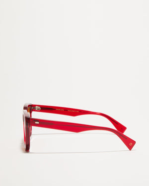 Article One Marion tinted red sunglasses side view
