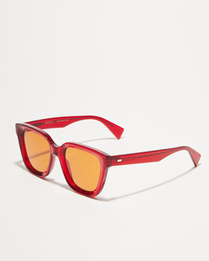Article One Marion tinted red sunglasses