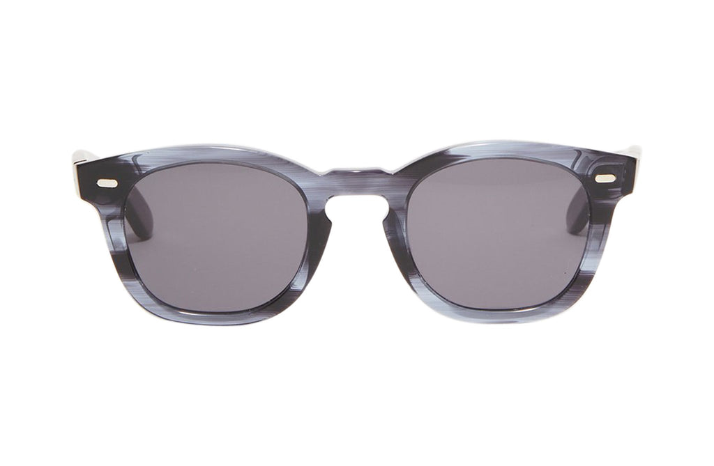Article One Cass gray acetate rectangular sunglasses front view