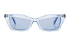 balenciaga runway blue sunglasses