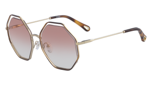 Chloé Poppy Octagon Pink Sunglasses