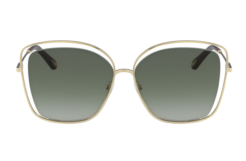 Chloé Poppy Cutout Gold Sunglasses