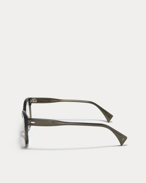 Article One Valentine olive rectangular gradient lens sunglasses side view