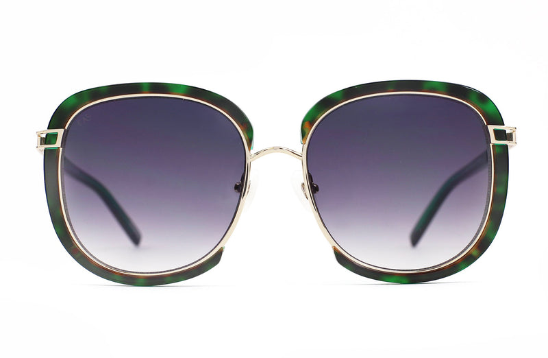 For Art's Sake Galaxy X Green Sunglasses