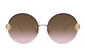 For Art's Sake Goddess Burgundy Brown Sunglasses