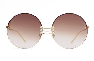 For Art's Sake Vermeer Champagne Gold Sunglasses