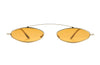 Kyme Claude Orange Micro Oval Sunglasses