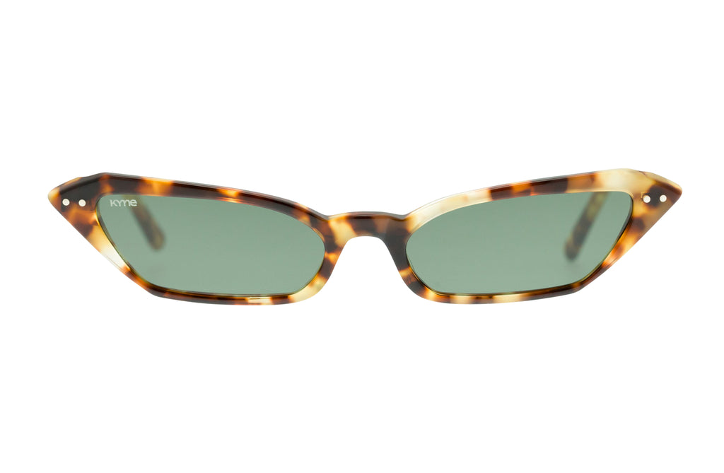 Kyme Sophie Tortoise Cateye Micro Sunglasses