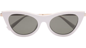 Le Specs Enchantress White Sunglasses