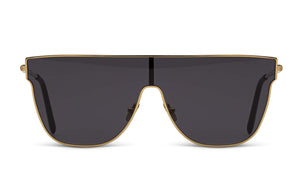 Retrosuperfuture Lenz Flat Top Black Sunglasses