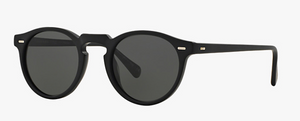 Oliver Peoples Gregory Peck Black Sunglasses