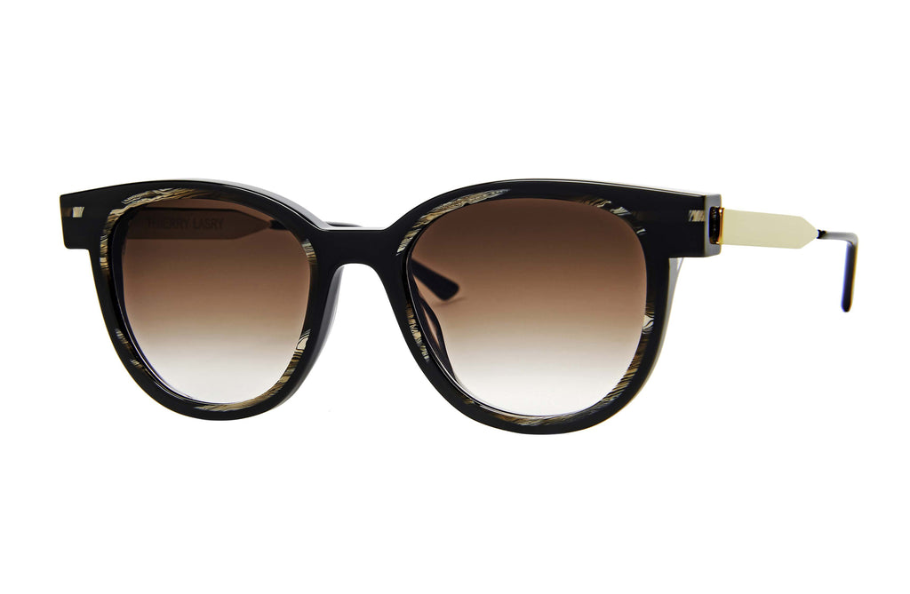 Thierry Lasry Shorty Brown Sunglasses